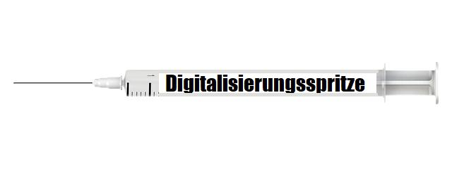 Digitalisierung-Spritze